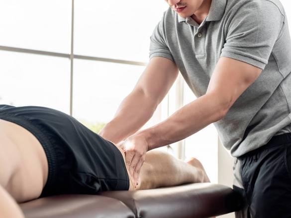 massage sportif des jambes